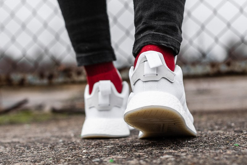 chaussures adidas nmd_r2 blanche cq2401